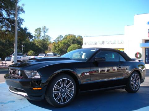 Ebony Black Ford Mustang Gt Premium Convertible Click To Enlarge