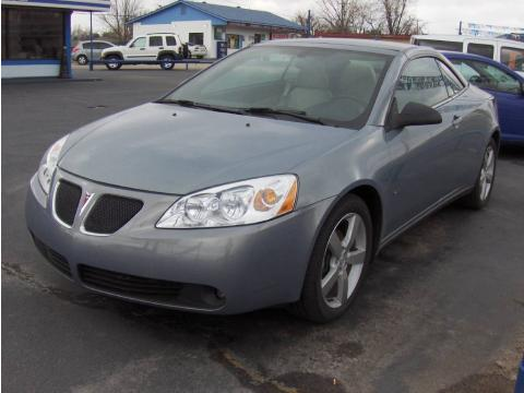 Blue Gold Crystal Metallic 2007 Pontiac G6 GT Convertible with Light Taupe
