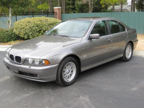 Sterling Grey Metallic 2002 BMW 5 Series 525i Sedan with Black interior