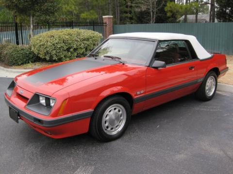 used 1986 ford mustang gt convertible for sale stock 303174 dealer car ad. Black Bedroom Furniture Sets. Home Design Ideas