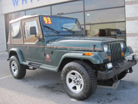 used 1993 jeep wrangler sahara 4x4 for sale stock w0070b1 dealer car ad. Black Bedroom Furniture Sets. Home Design Ideas