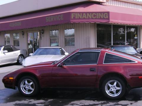 Burgundy 1987 Nissan 300ZX GS Hatchback with Burgundy interior Burgundy