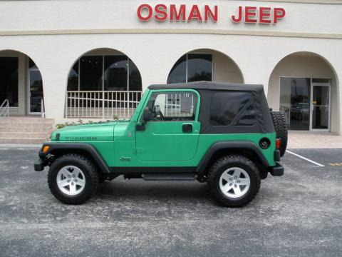Electric Lime Green Pearl Jeep Wrangler Rubicon 4x4.  Click to enlarge.