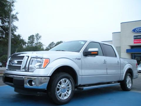 Ingot Silver Metallic Ford F150 Lariat SuperCrew.  Click to enlarge.
