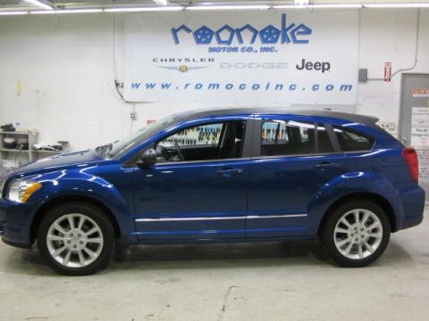 Deep Water Blue Pearl Dodge Caliber R/T.  Click to enlarge.