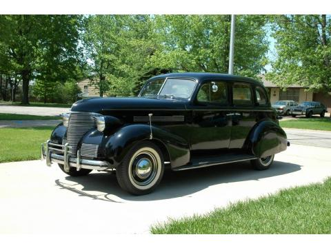 Black Chevrolet Master Deluxe 4 Door Sport Sedan.  Click to enlarge.