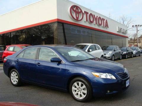 Blue Ribbon Metallic 2007 Toyota Camry XLE V6 with Ash interior Blue Ribbon