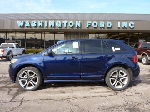 Kona Blue Metallic Ford Edge Sport AWD.  Click to enlarge.