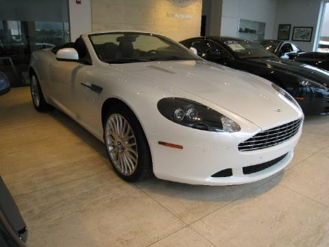 Morning Frost White Aston Martin DB9 Volante.  Click to enlarge.