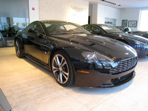 Onyx Black Aston Martin V12 Vantage Coupe.  Click to enlarge.