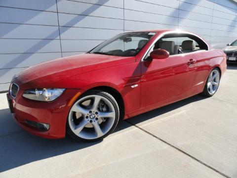 Bmw 3 Series Convertible 2009. Crimson Red 2009 BMW 3 Series