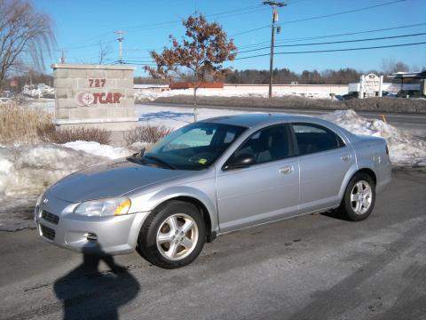 Bright Silver Metallic 2003 Dodge Stratus SXT Sedan with Dark Slate Gray