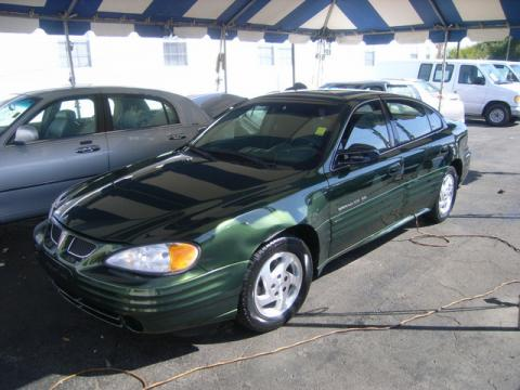 Spruce Green Metallic 2000 Pontiac Grand Am SE Sedan with Dark Pewter