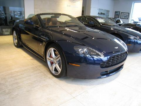 Midnight Blue Aston Martin V8 Vantage Roadster.  Click to enlarge.