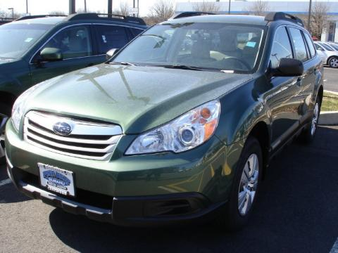 Cypress Green Pearl Subaru Outback 2.5i Wagon.  Click to enlarge.