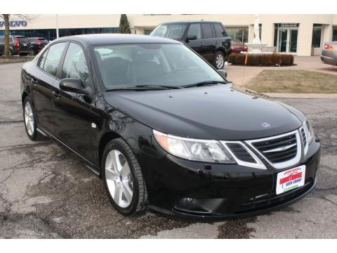 Black Saab 9-3 2.0T Sport Sedan.  Click to enlarge.