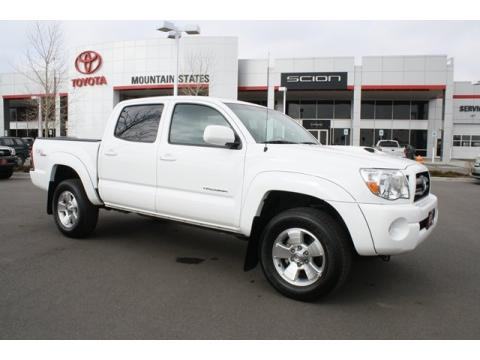Super White Toyota Tacoma V6 TRD Sport Double Cab 4x4.  Click to enlarge.