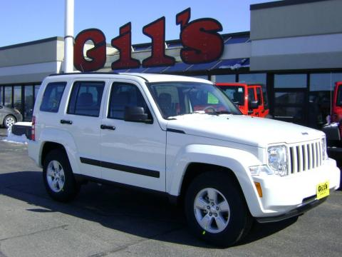 Awesome Stone White Jeep Liberty Sport 4x4. Click To Enlarge.