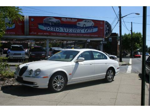 White Onyx Jaguar S-Type 4.2.  Click to enlarge.