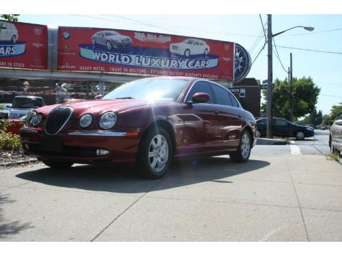 Carnival Red Metallic Jaguar S-Type 3.0.  Click to enlarge.