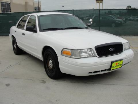 Vibrant White Ford Crown Victoria Police Interceptor Click To Enlarge