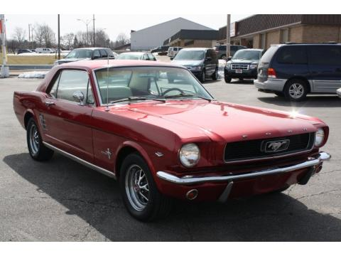 Metallic Red Ford Mustang Coupe.  Click to enlarge.