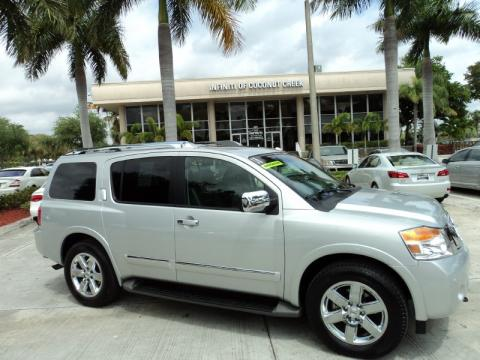 Nissan Armada 2010 Platinum. Silver Lightning Metallic 2010 Nissan Armada Platinum with Charcoal interior Silver Lightning Metallic Nissan Armada Platinum. Click to enlarge.