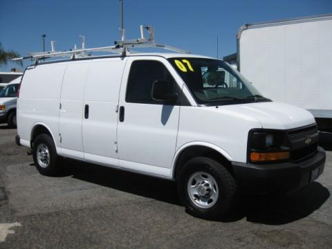 used 2007 chevrolet express 3500 cargo van for sale stock 127130 dealer. Black Bedroom Furniture Sets. Home Design Ideas