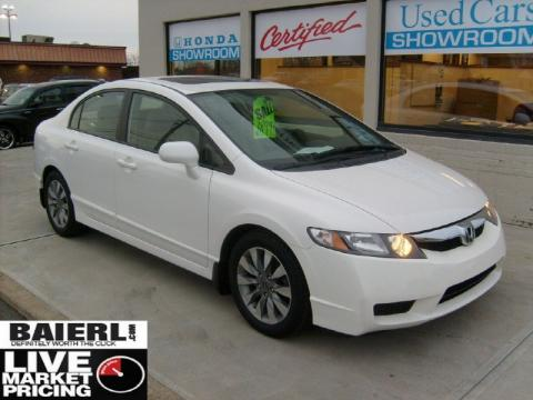 used 2009 honda civic ex l sedan for sale stock hp11027 dealer car ad. Black Bedroom Furniture Sets. Home Design Ideas