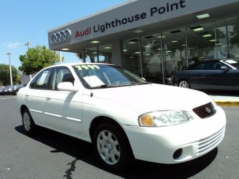 Cloud White Nissan Sentra GXE. Click To Enlarge.