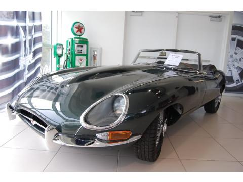 Opalescent Dark Green Jaguar E-Type XKE 4.2 Roadster.  Click to enlarge.