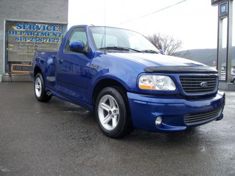Sonic Blue Metallic Ford F150 SVT Lightning Click To Enlarge