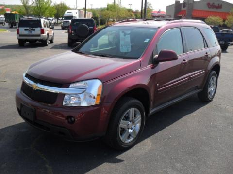 Deep Ruby Red Metallic Chevrolet Equinox LT.  Click to enlarge.