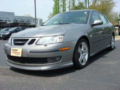 Steel Gray Metallic Saab 9-3 Aero Sport Sedan.  Click to enlarge.