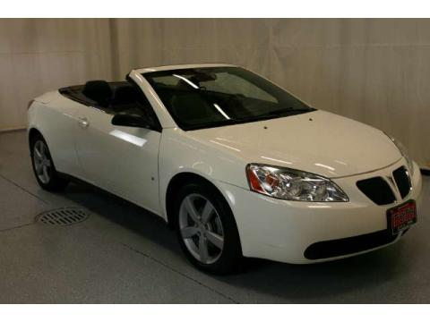Ivory White Pontiac G6 GT Convertible.  Click to enlarge.