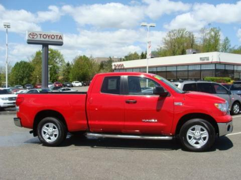 Radiant Red Toyota Tundra Double Cab 4x4.  Click to enlarge.