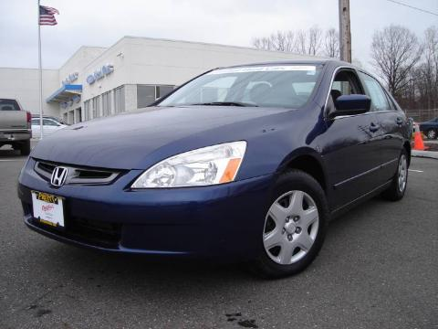 Eternal Blue Pearl 2005 Honda Accord LX Sedan with Gray interior Eternal