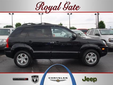 Hyundai Tucson 2009 Interior. Obsidian Black 2009 Hyundai Tucson Limited V6 4WD with Black interior