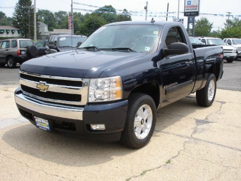 Dark Blue Metallic Chevrolet Silverado 1500 LT Regular Cab 4x4. Click To  Enlarge.