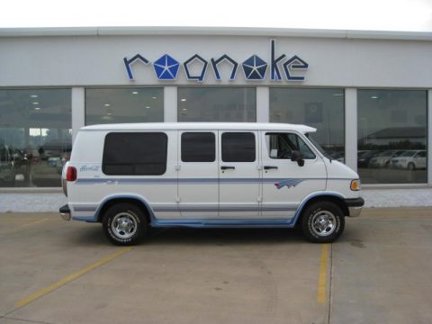 Stone White Dodge Ram Van 2500 Passenger Conversion.  Click to enlarge.