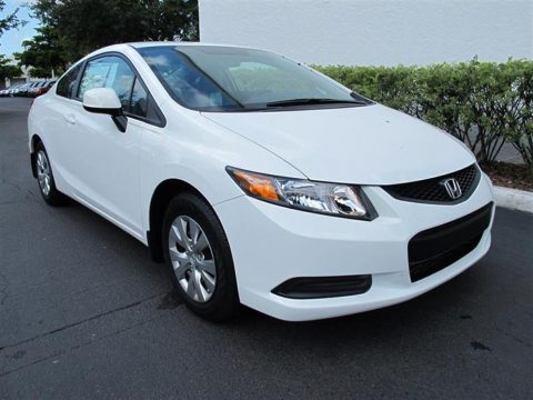 New 2012 honda civic lx coupe for sale stock ch504344 for 2012 honda civic white