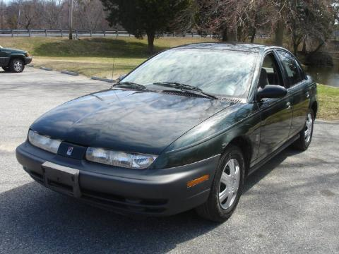 1997 Dark Green Saturn S Series SL2 Sedan #53665424 | GTCarLot.com ...