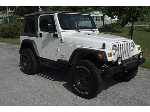 Awesome Stone White Jeep Wrangler Sport 4x4. Click To Enlarge.