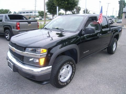 Black Chevrolet Colorado LS Crew Cab 4x4.  Click to enlarge.