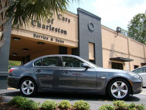 Platinum Grey Metallic BMW 5 Series 528i Sedan.  Click to enlarge.