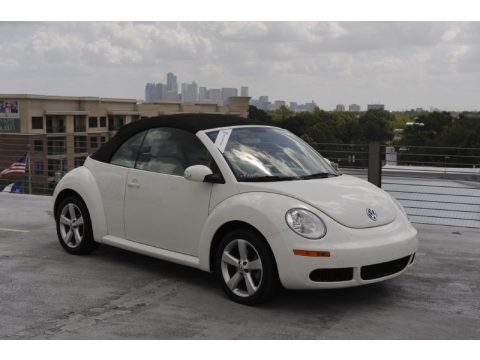 Used 2007 Volkswagen New Beetle Triple White Convertible For Sale Stock 1382609759
