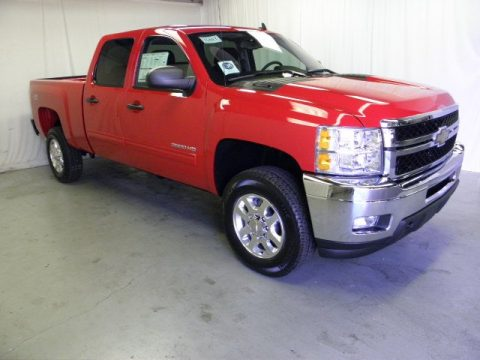 Victory Red Chevrolet Silverado 2500HD LT Crew Cab 4x4.  Click to enlarge.