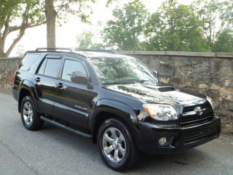 Black Toyota 4Runner Sport Edition 4x4. Click To Enlarge.