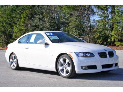 Alpine White 2007 BMW 3 Series 328i Coupe with Cream Beige interior Alpine