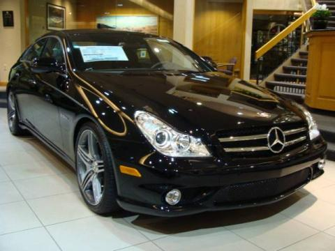 Black 2009 Mercedes-Benz CLS 63 AMG with Black interior Black Mercedes-Benz